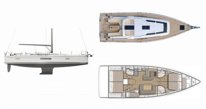 Location bateau Bénéteau Oceanis 51.1 à Lávrio sur Samboat