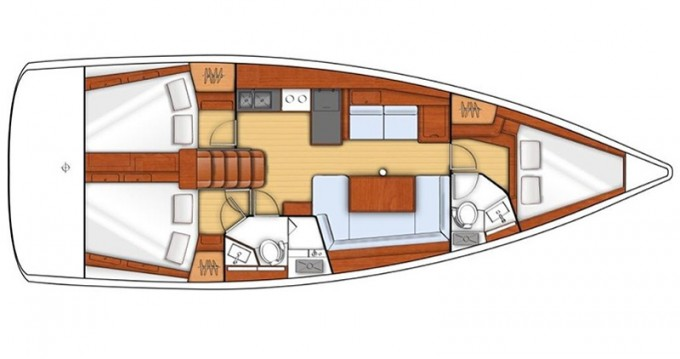 Location bateau Punta Ala pas cher Oceanis 38.1