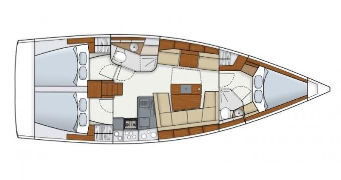 Location bateau Ibiza (Ville) pas cher Hanse 415