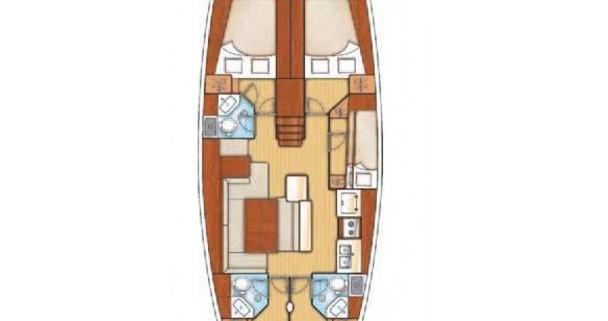 Location yacht à Lefkada (Île) - Bénéteau Oceanis 50 sur SamBoat