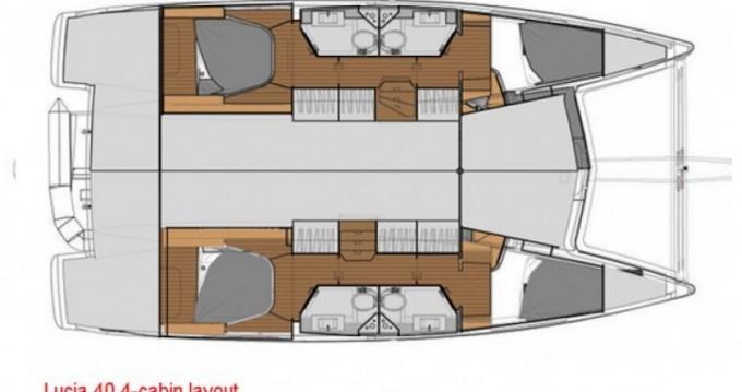 Location bateau Fountaine Pajot Lucia 40 à Eden Island sur Samboat