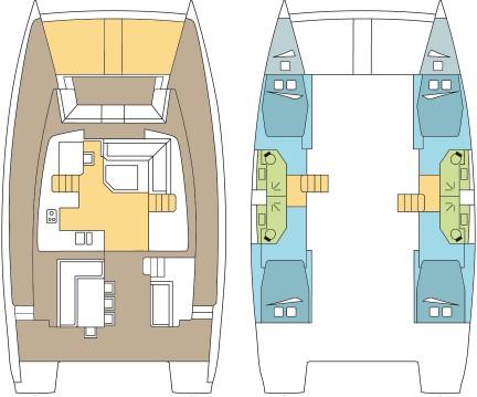 Location bateau Catana Bali 4.5 - 4 + 2 cab. à Anse Marcel sur Samboat
