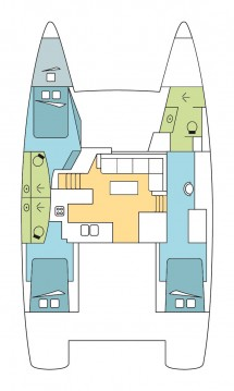 Location Catamaran à Saint Lucia Island - Fountaine Pajot Helia 44 OW - 3 + 1 cab.