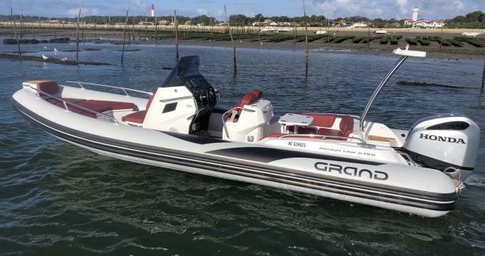 Location Semi-rigide à Cap Ferret - Grand Boats Golden Line G750L