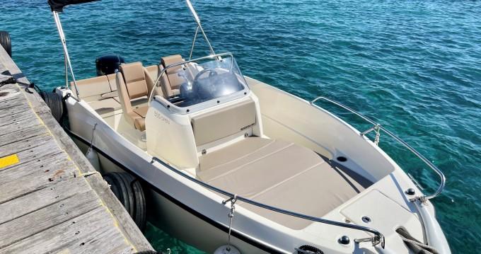 Location bateau Quicksilver Quicksilver 555 Open à Mandelieu-la-Napoule sur Samboat
