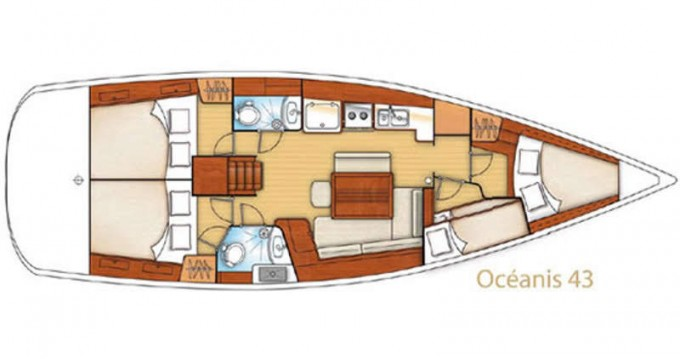 Location yacht à Pálairos - Bénéteau Oceanis 43 sur SamBoat