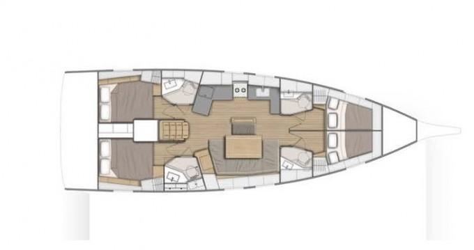 Location bateau Bénéteau Oceanis 46.1 à Lávrio sur Samboat
