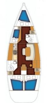 Location bateau Bénéteau Cyclades 43.4 à Sukošan sur Samboat