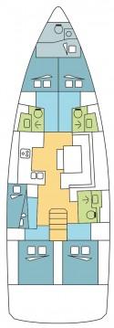 Location bateau Olbia pas cher Sun Odyssey 490