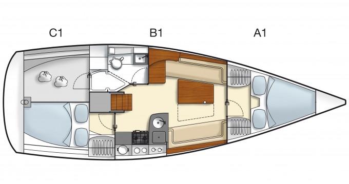 Location Voilier à Kortgene - Hanse Hanse 355